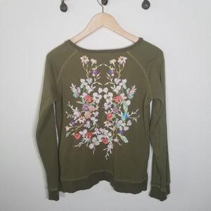 Etienne Marcel Natalie Floral Embroidered Pullover